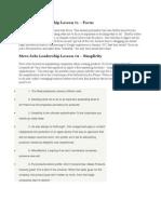 Steve Jobs Leadership Lesson
