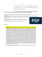 AMARAL Comparison Among Four Commonly Used Demineralizing Agents for Root Conditioning a Scanning Electron Microscopy