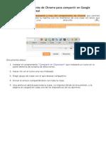 Interesante Complemento de Chrome Para Compartir en Google Classroom en Tiempo Real