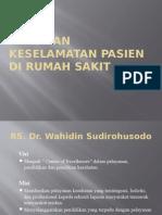 Pedoman Keselamatan Pasien Di Rumah Sakit