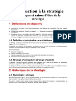Chapitre  - Introduction a La Strategie