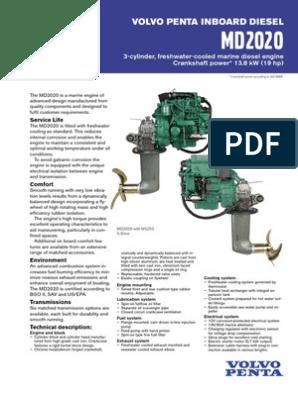 Volvo Penta Md 2020 Diesel Engine Engines