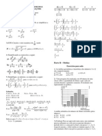 Lista de Exercícios Para Prova II - 2o Bimestre de 2015 - 1o Ano - Matemática C - Prof