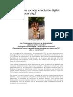 Desigualdades Sociales e Inclusión Digital