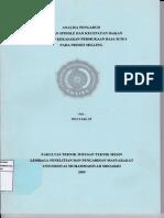 Analisa Pemotongan dan Pengaruh terhadap Kekasaran Material