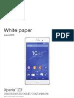 Sony Z3 Specification Sheet