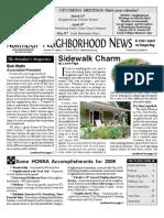 Historic Old Northeast Neighborhood Newsletter - March 2010