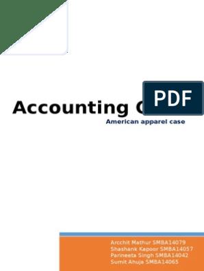 American Apparel 3 case analysis IMT Dubai | Cash Flow