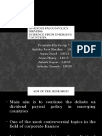 Dividend Payout-Policy Drivers- IMT Dubai