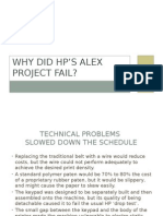 Why did HP's Alex Project Fail?