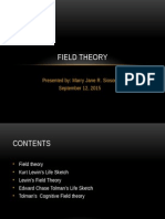 Field Theory and Cognitive Field Theory