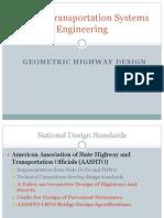 CE327 S2013 Lecture 18-20 Geometric Design