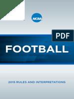 NCAA Football Rules 2015-2016