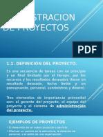 Admnistracion de Proyectos UNIDAD 1