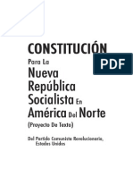 Constitución para la nueva república Socialista de América del Norte.