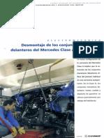 Desmontaje de Los Conjuntos Mecánicos Delanteros Del Mercedes Clase A