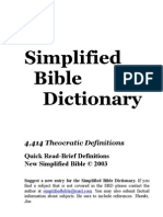 Religion Simplified Bible Dictionary