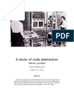 Abstraction of Code