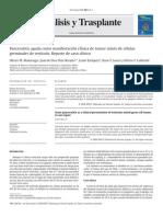 Pancreatitis Aguda y Tumor Mixto de Celulas Germinales en Testiculo. Dial Trasp 2009