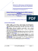 Weekly Political Events Regarding the SPDC's Election (003-2010)