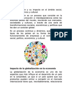 La Globalización y Su Impacto en El Ámbito Social