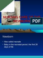 Nursing Care of the Newborn