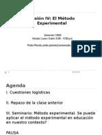 4. Sesión IV El Método Experimental
