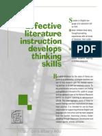 effective teaching - Literature