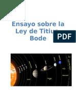 Ley de Titius-Bode