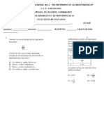 Examen Diagnóstico de Matemáticas