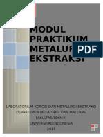 Modul Praktikum Metalurgi Ekstraksi 2015
