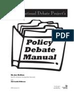 Policy Debate Manual