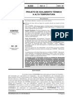 N-0550 Projeto de Isolamento Térmico a Alta Temperatura