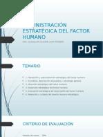 Administración Estratégica Del Factor Humano
