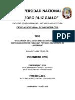 Ic-2013-103 Vulnerabilidad Sismica Centros Educativos La Victoria - Chiclayo