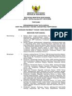 Permentan_unit Organisasi Dan Tata Kerja Pelaksana Teknis Karantina Pertanian