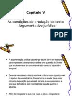 Capítulo v - Argumentação