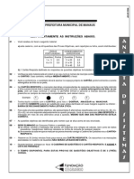 Cesgranasdfasdfasrio 2004 Prefeitura de Manaus Am Analista de Sistemas Prova