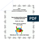 Plan de trabajo de Feria de Ciencia y Tecnología.