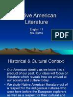 Native American Literature Presentation