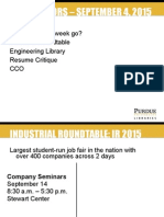 Industrial Roundtable and Libraries at Purdue
