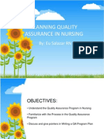 Planning Quality Assurance in Nursing