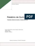 Relatório de Química - Titulação, Preparação e Diluição de Soluções (2)