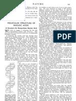 Molecular Structure of DNA - Watson & Crick