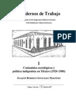 Gonzalez Martinez Joaquin Roberto Contenidos Sociológicos y Política Indigenista en México (1920- 1980)
