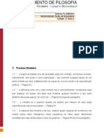 Fichamento de Filosofia - Hobbes, Locke, Rousseau