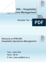 1.0 HTM 209 – OM Introductory Session
