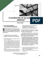 la producción de políticas públicas
