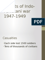 Results of Indo-Pakistani War