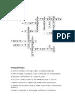 crucigrama de mezclas y compuestos lectura 2